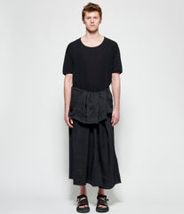 Jan Jan Van Essche Black Fine Mesh Tubular Wrap Skirt