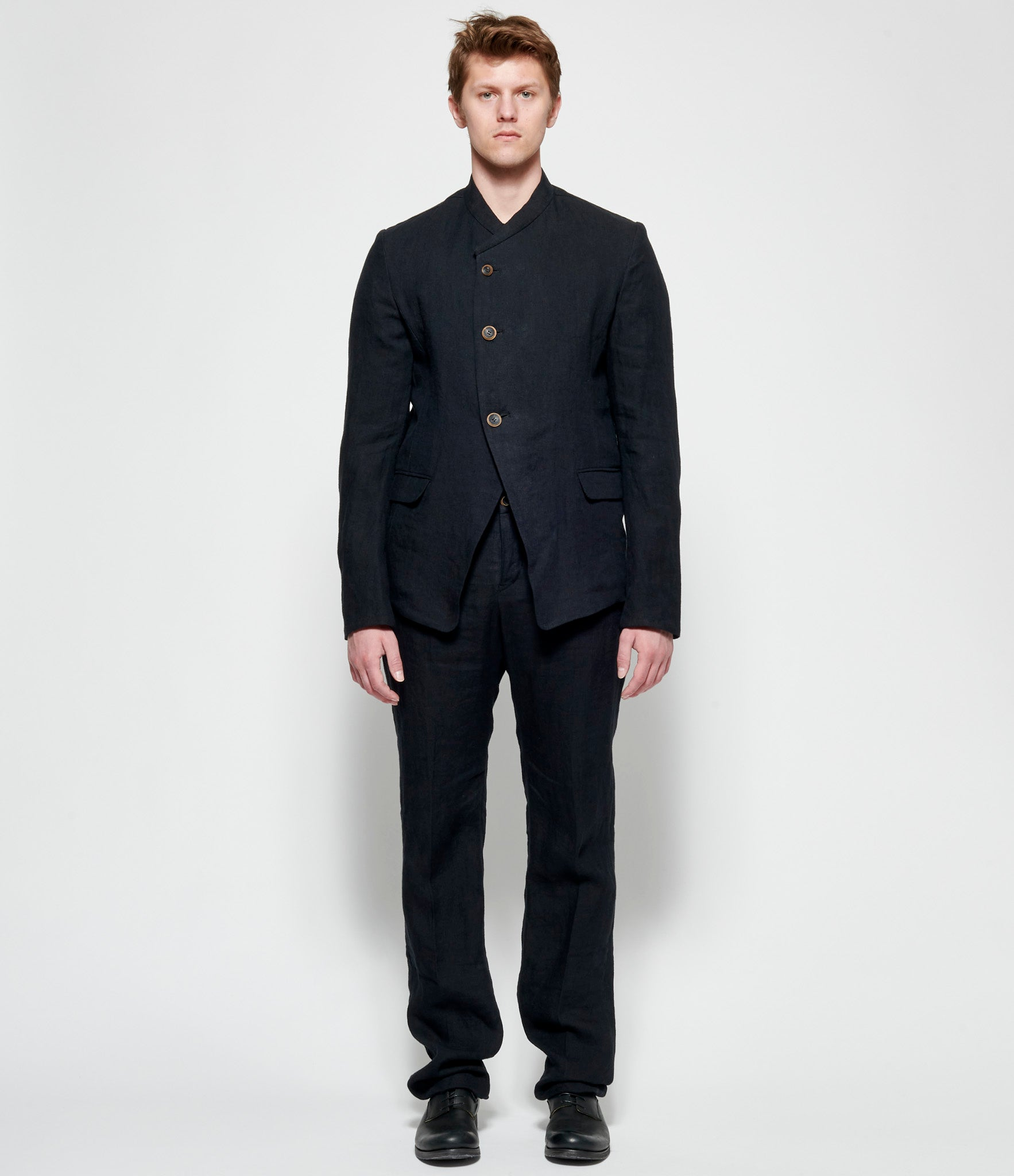 Individual Sentiments Linen Herringbone Jacket