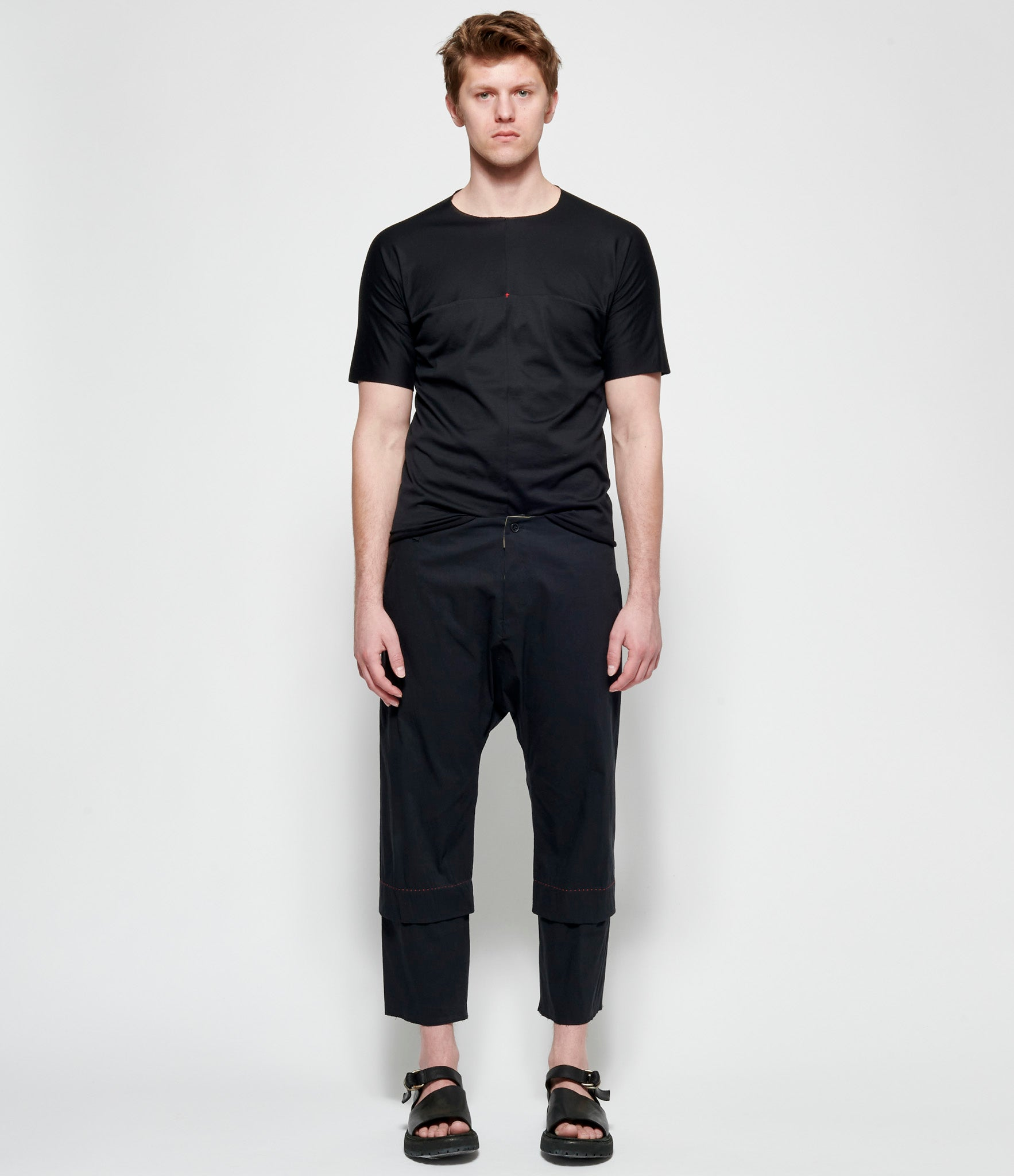 m.a+ Black One Pice Short Sleeve T-Shirt