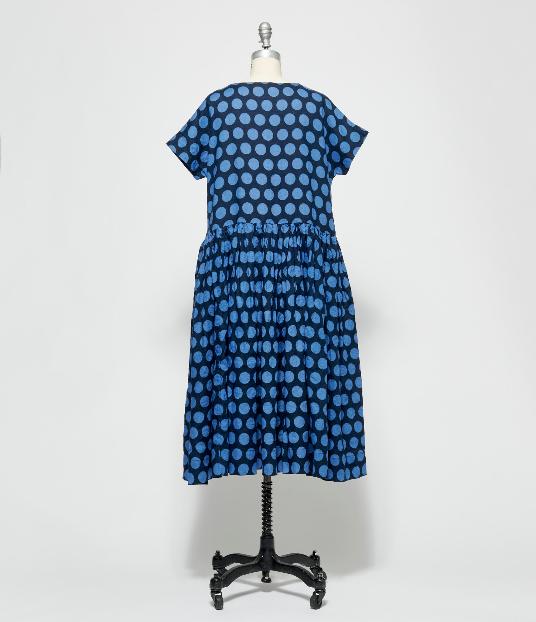 Casey Casey Dot Print Pasha Rouch Dress