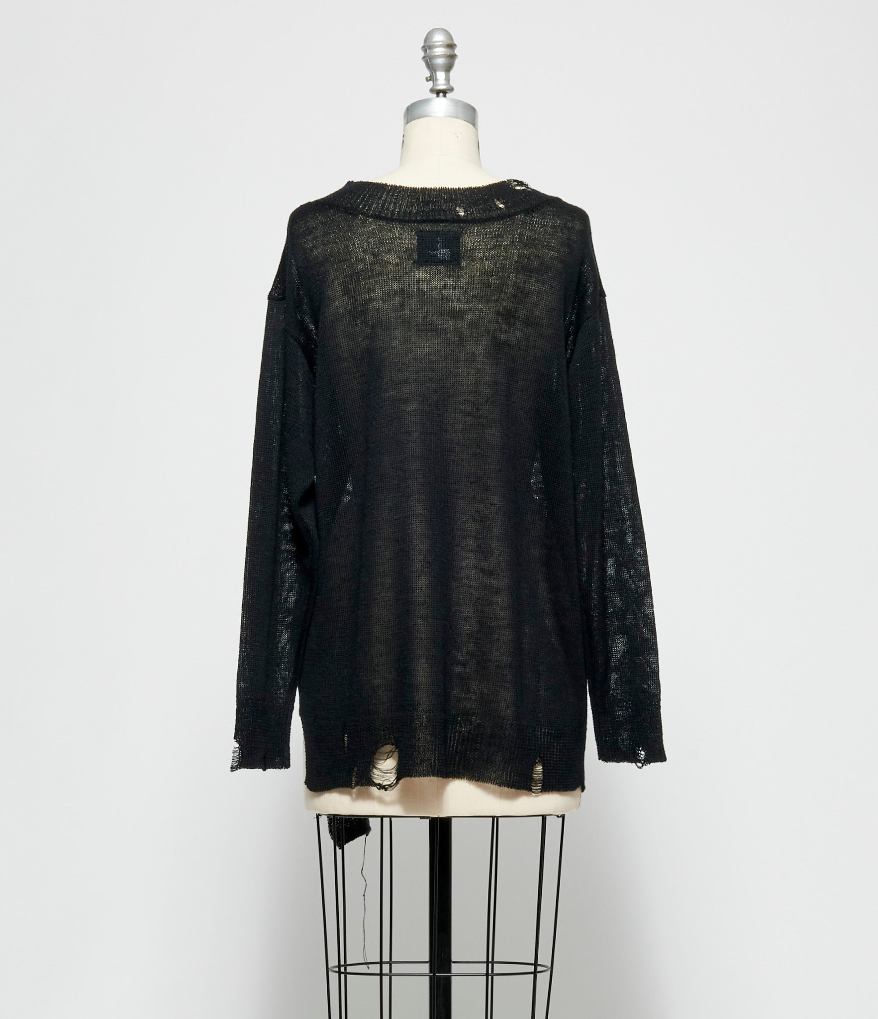 Yohji Yamamoto Back V-Neck Long Sleeve Sweater