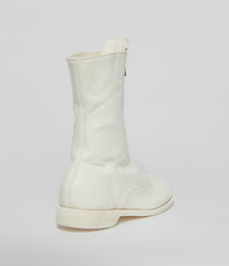 Guidi 310 White Soft Horse Full Grain Front Zip Calf-Length Army Boots