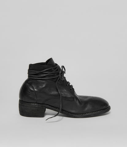 Guidi 793Z Black Soft Horse Full Grain Lace-Up Ankle Boots