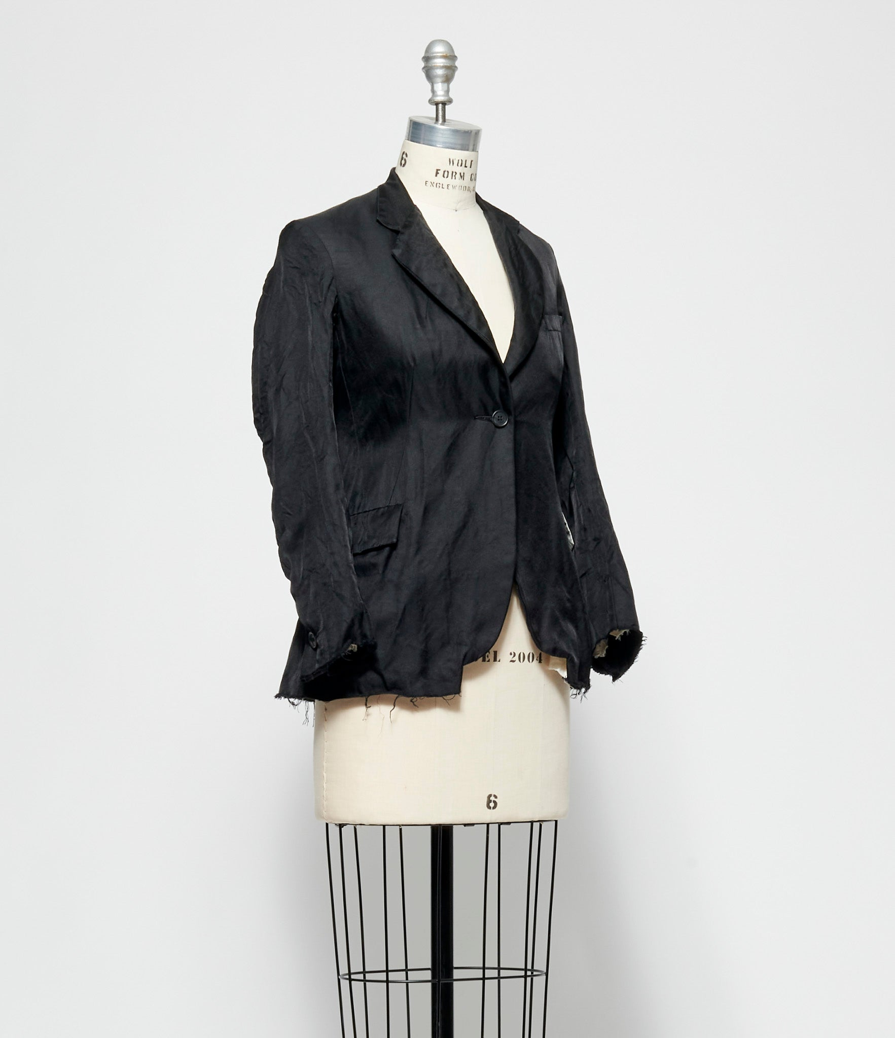Elena Dawson Caviar Silk Wool Hacking Jacket