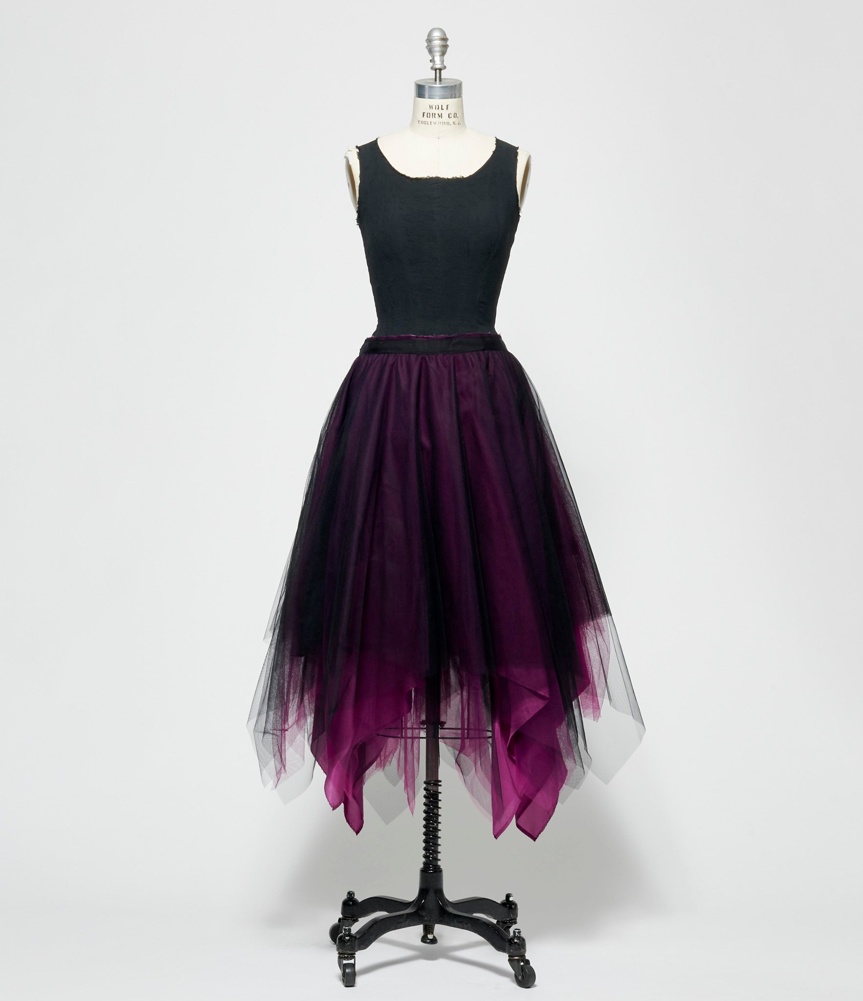 Marc Le Bihan Bi-Color Shifted 6 Layer Tulle Skirt