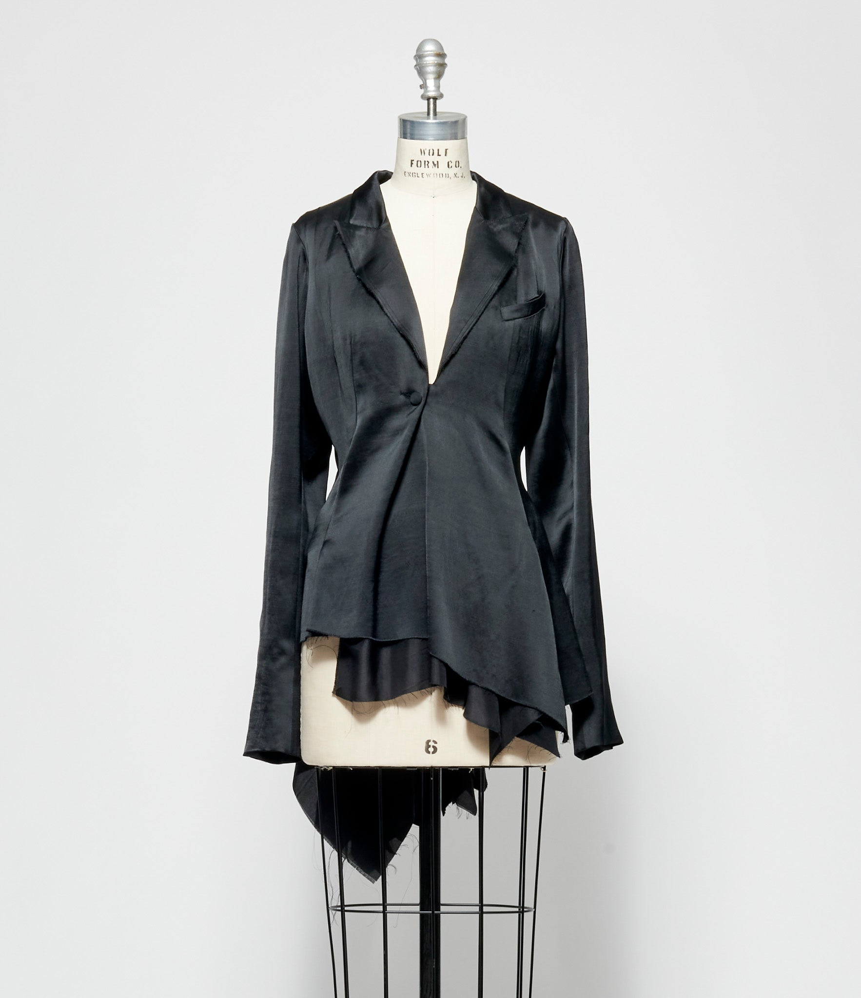 Marc Le Bihan Pullover Satin Peak Lapel Jacket Top