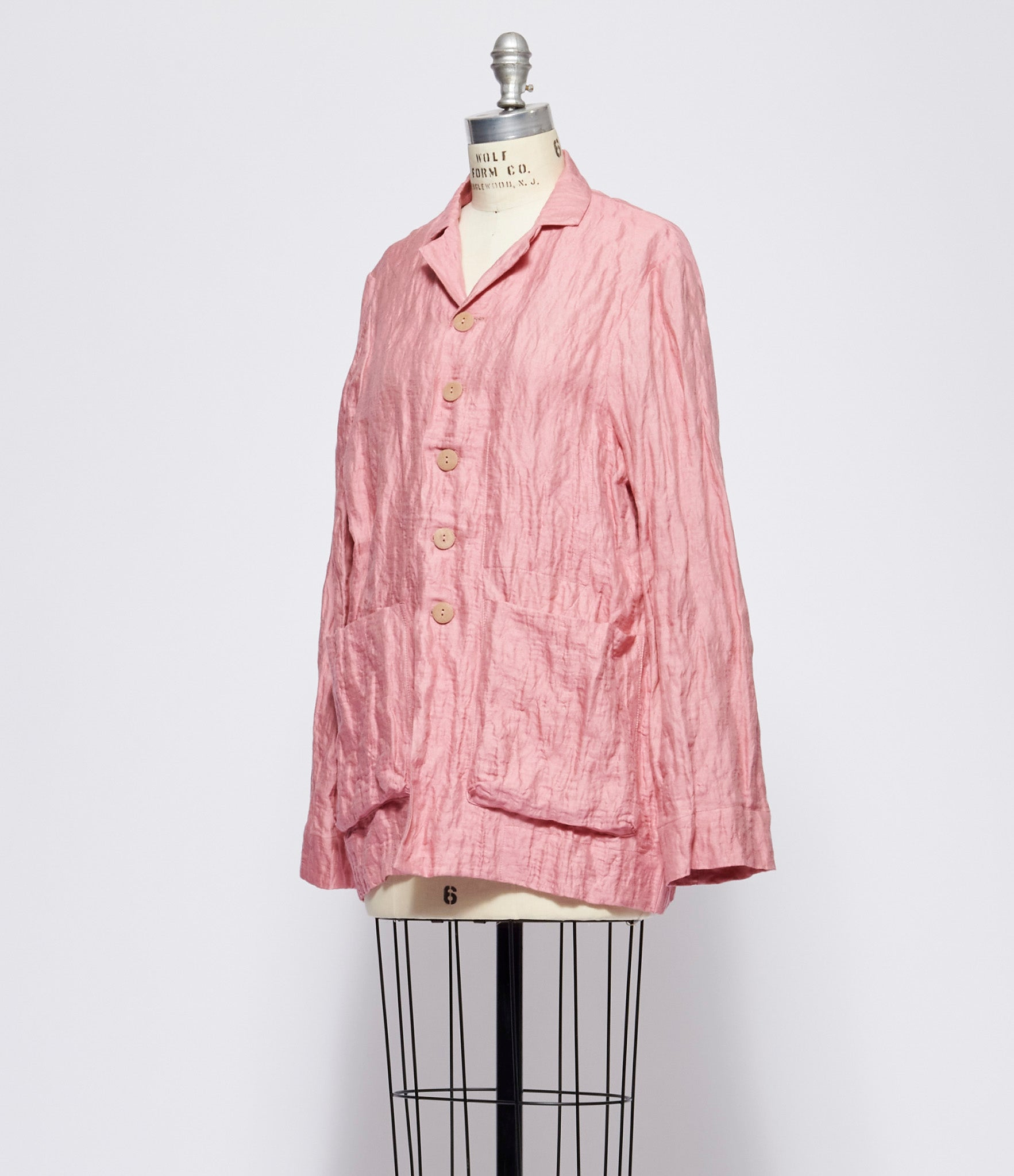 toogood Old Rose Crumpled Cotton Silk Photographer Jacket