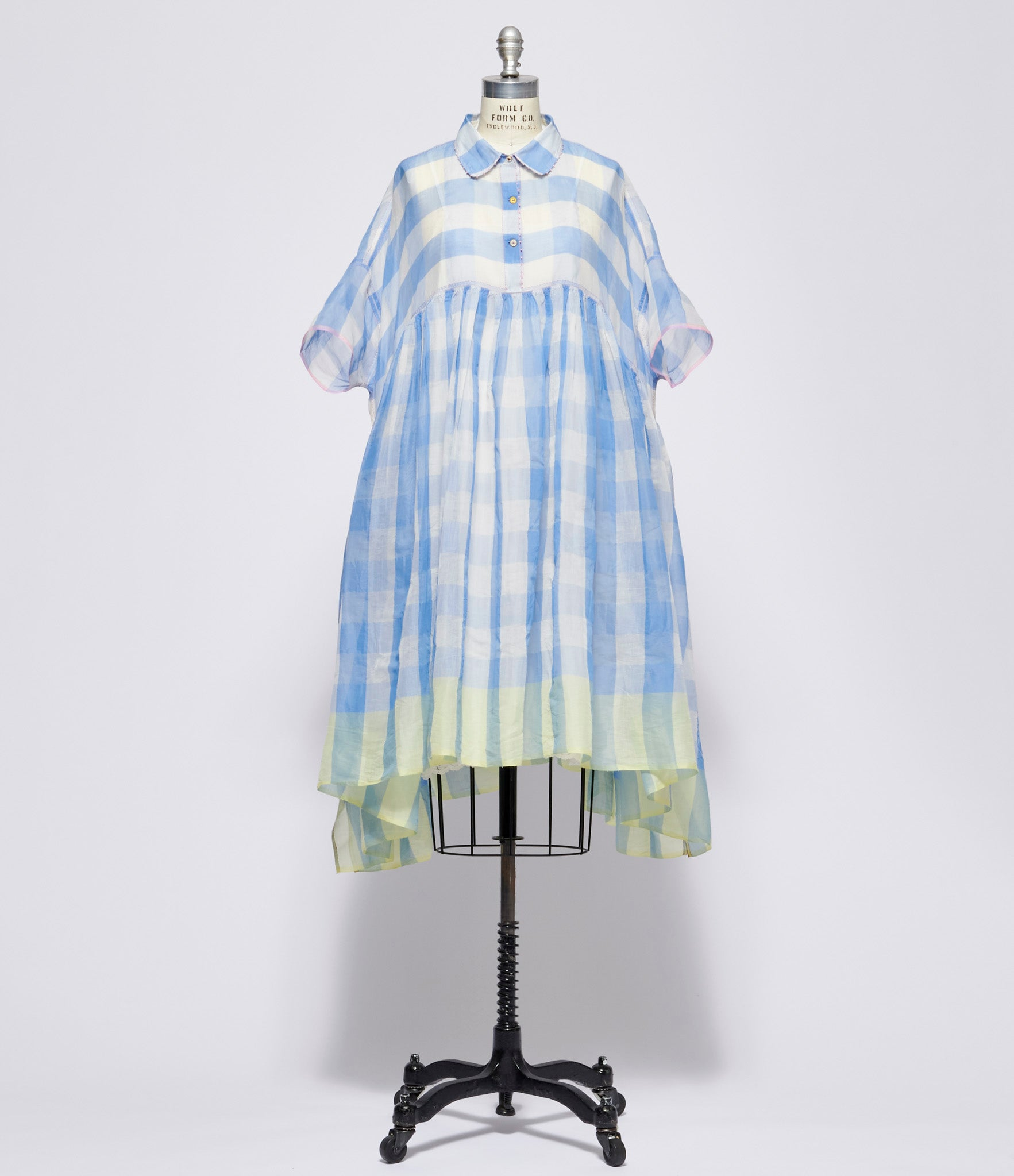 Pero Cotton Silk Gingham Dress