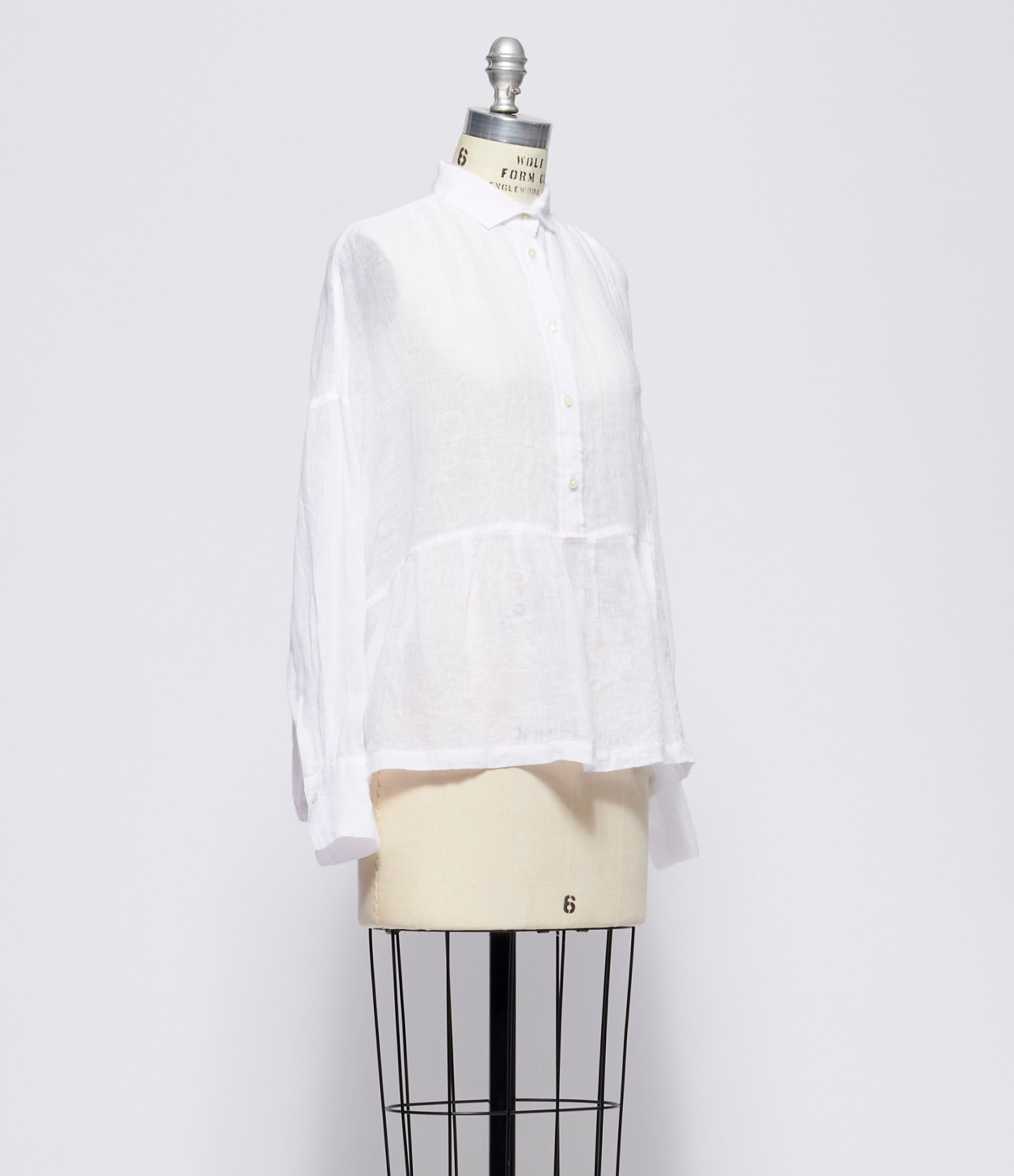 Forme d'Expression White Flounced Shirt