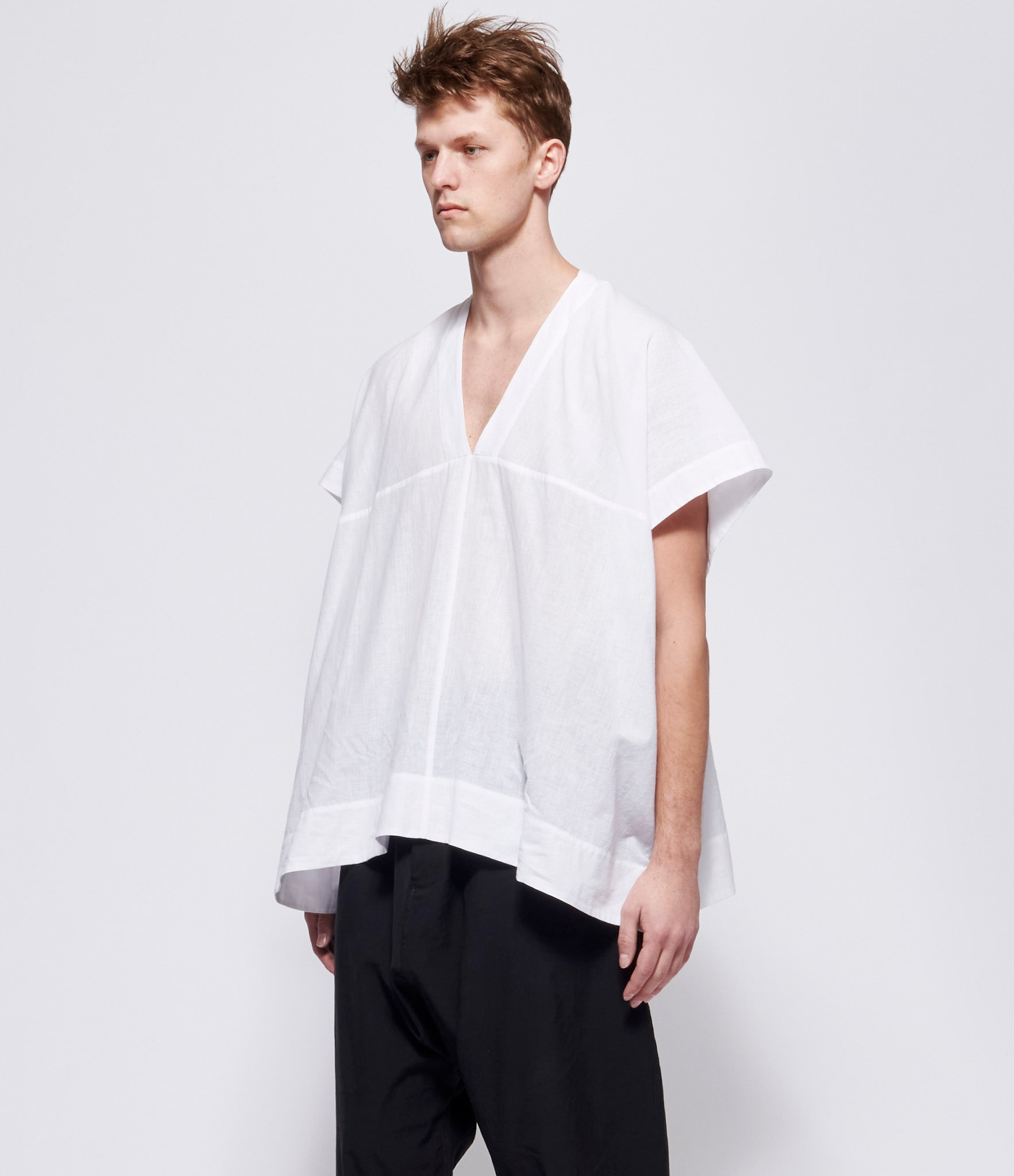 Jan Jan Van Essche #27 Off White Cotton Pullover Shirt