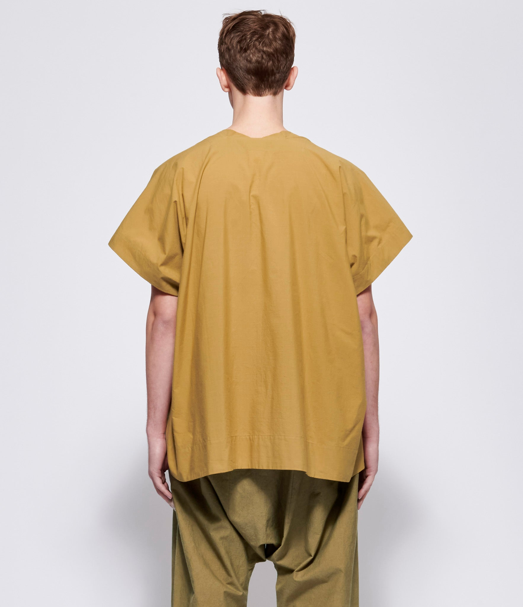 Jan Jan Van Essche #27 Mustard Cotton Pullover Shirt