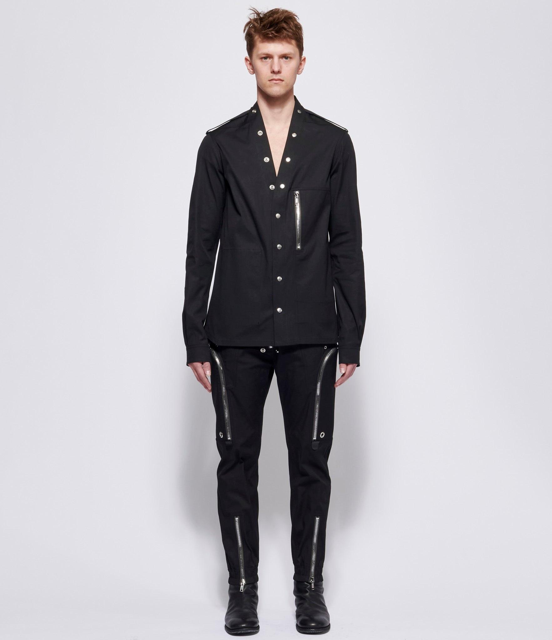 Rick Owens Black Giacca Larry Shirt