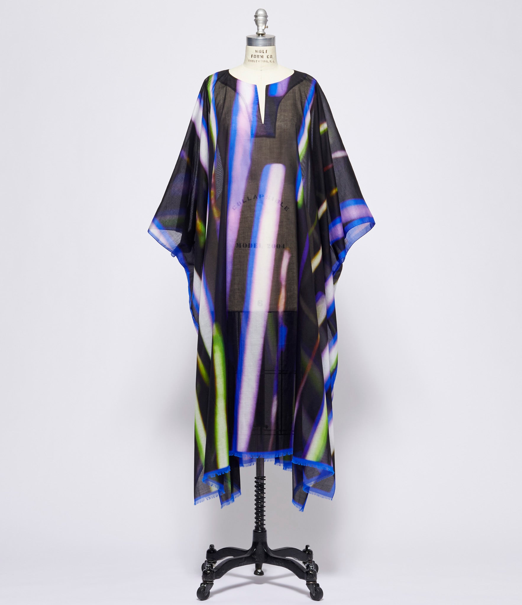 Dries Van Noten Black Blue Green Cartland Shirt