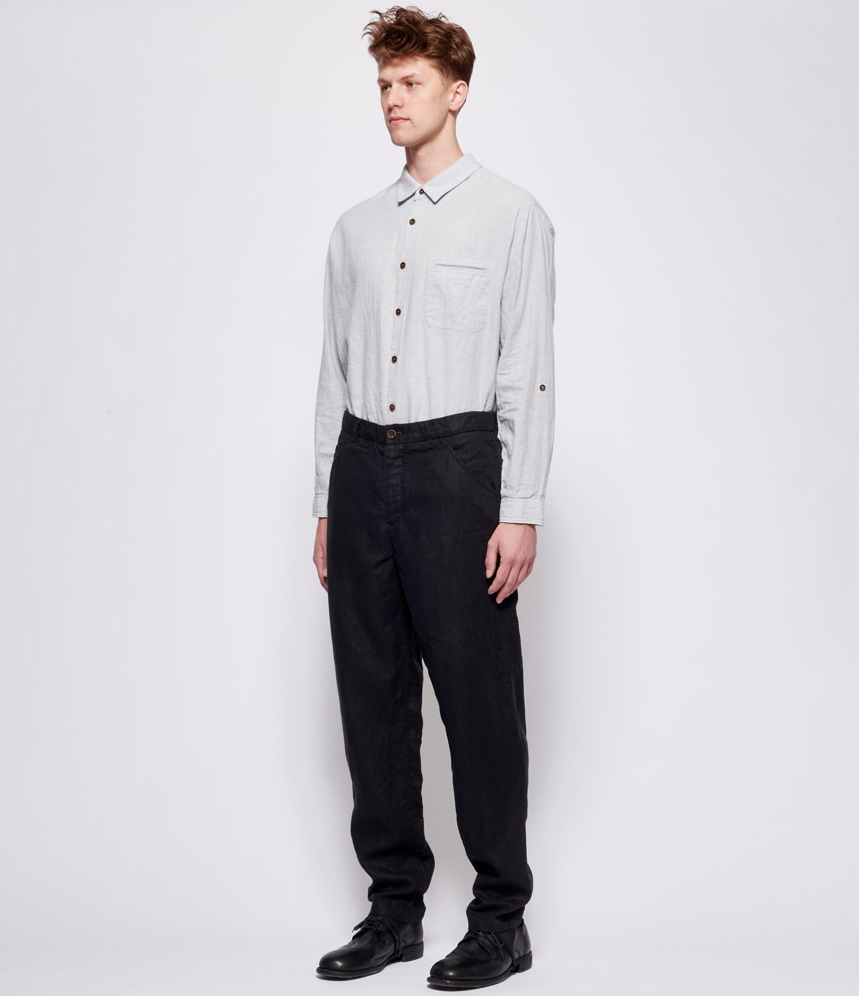 'T Ensemble Black Linen Jeans Pants