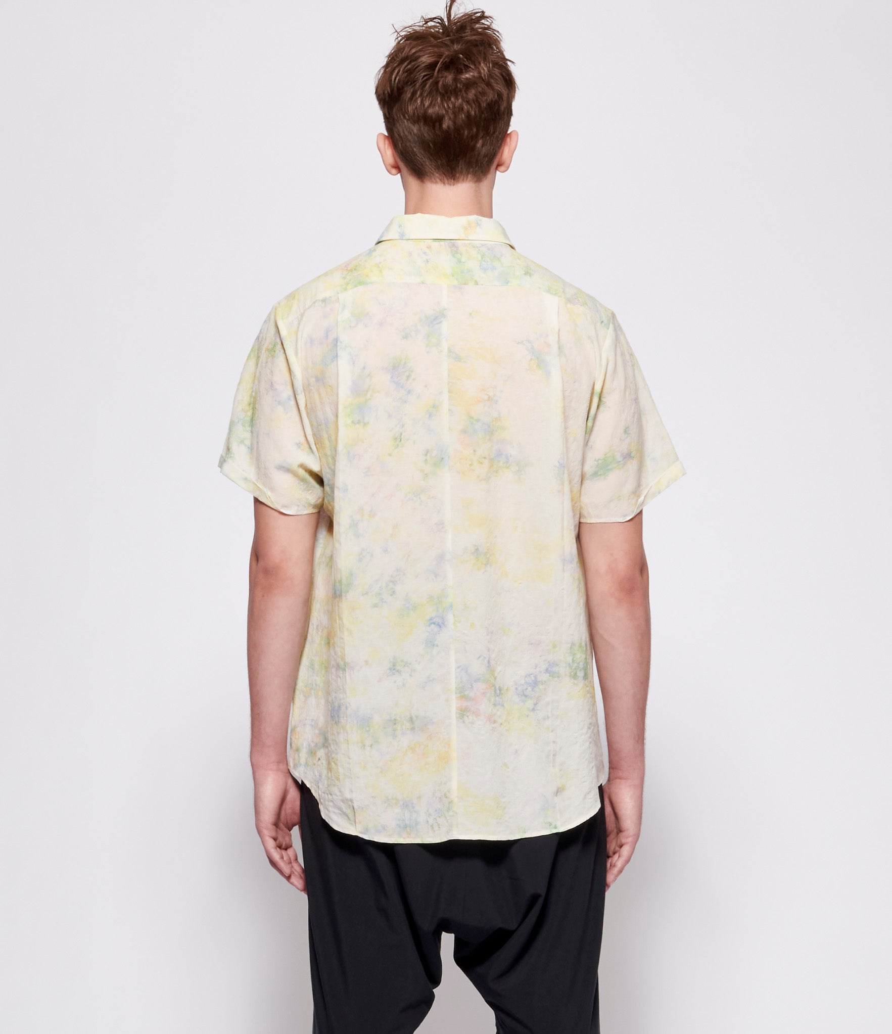 Individual Sentiments Multicolored Short Sleeve Wide Shirt