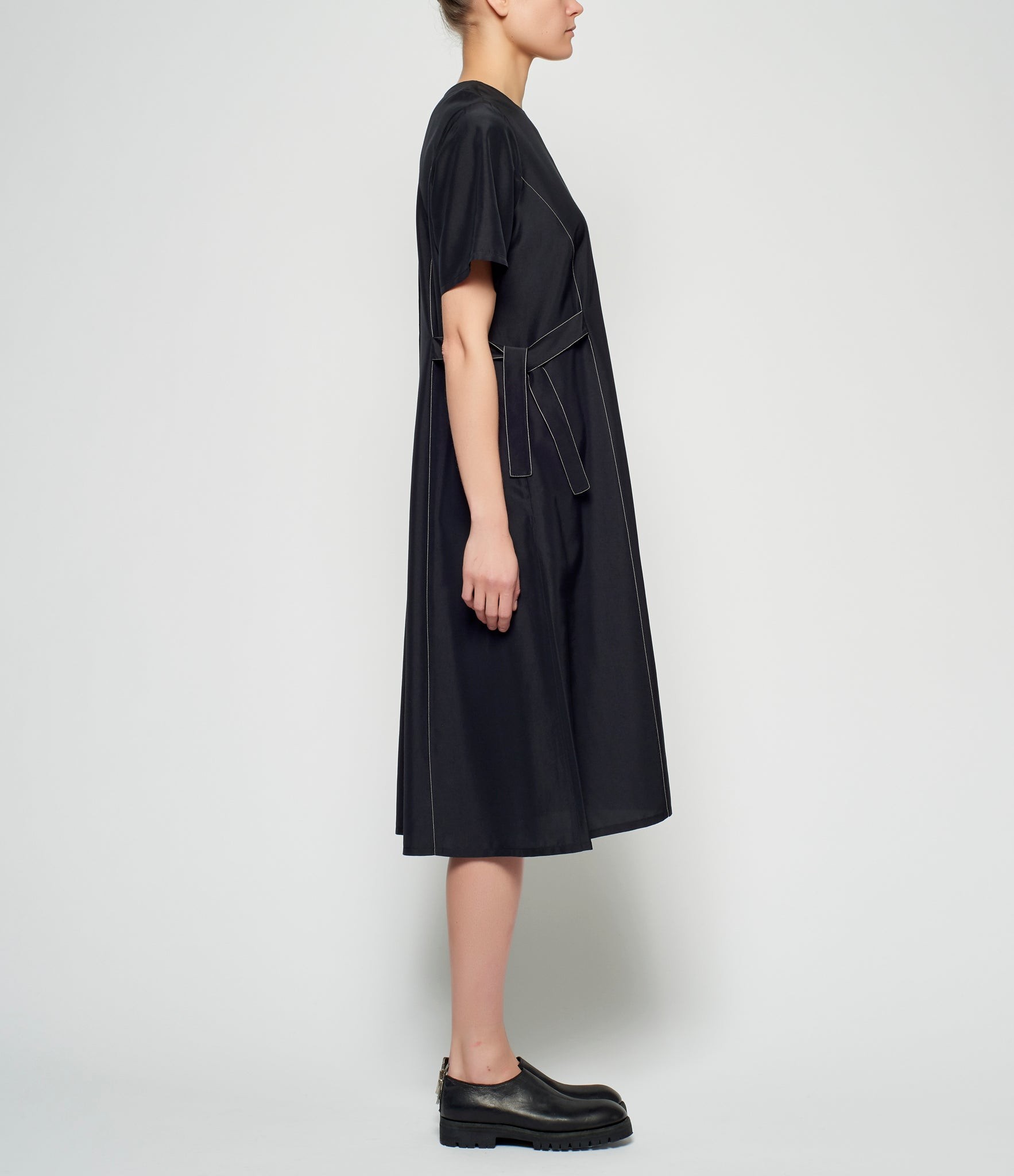 Sara Lanzi Silk Cupro T-Shirt Dress
