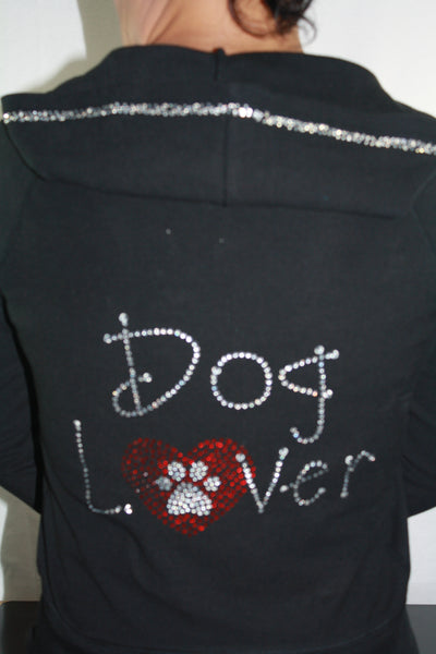 M8001 Missy & Junior Size    Dog Lover Hoodie Jacket