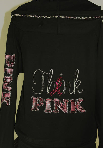 M8001    Think Pink Hoodies Jacket