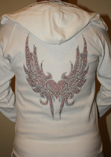 Red Heart Wings Hoodie
