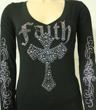 6977  Faith/Arms V-Neck Long Sleeve