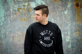 Mutts Are Limited Edition - Unisex Black Crew Neck Sweater