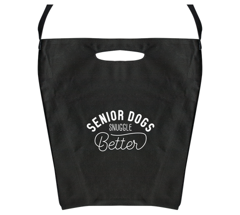 Senior Dogs Snuggle Better Canvas Bag