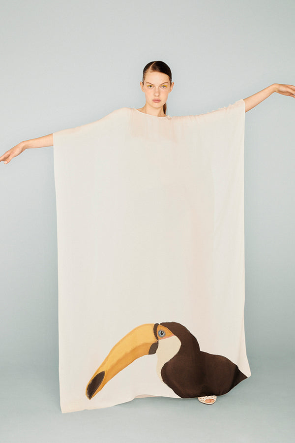Birds Toucan Long Kaftan