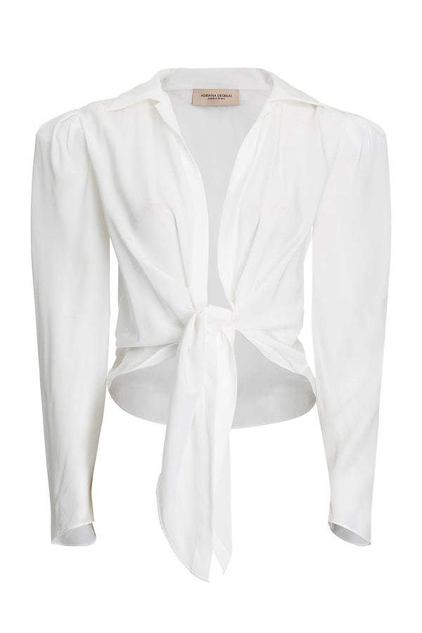 Shirt With Voluminous Sleeves and Knot