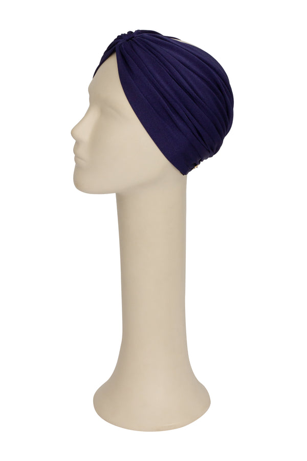 Navy Solid Turban