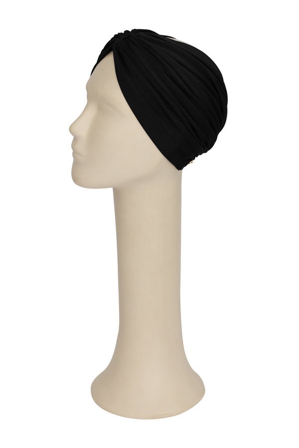 Black Solid Turban