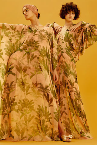 Toucan Print Long Dress