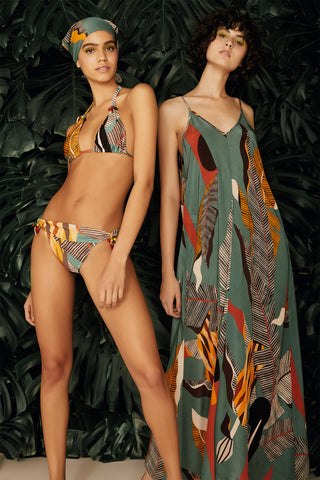 Bahiana Print Long Triangle Bikini