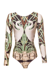 Nouveau Swan Cut-out Bodysuit