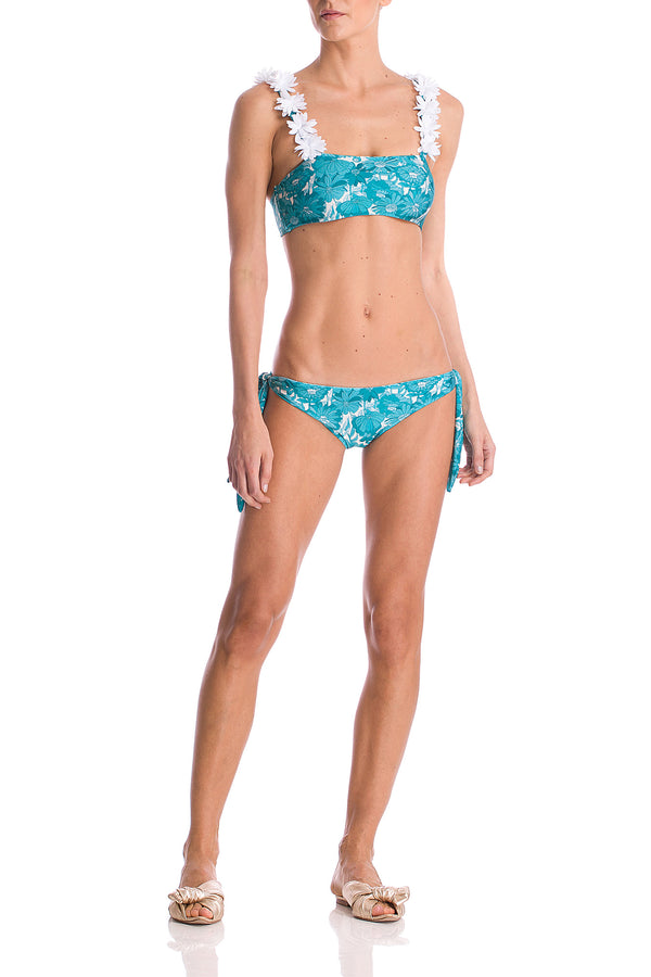 Flower Bloom Bikini With Flowers
