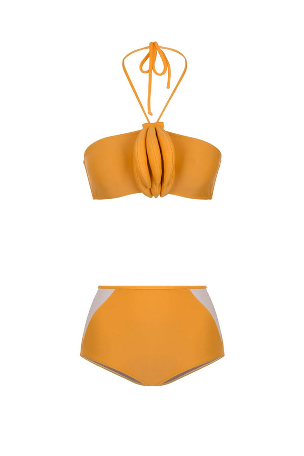 This bandeau top bikini is inspired by the sunny tropics of the designer's native country, Brazil