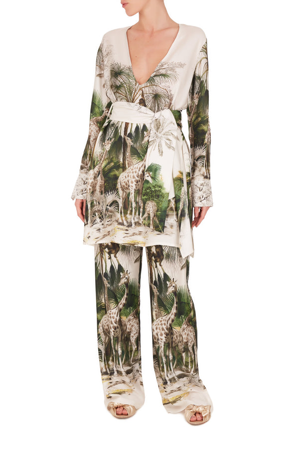 Safari Pants and Blouse Set