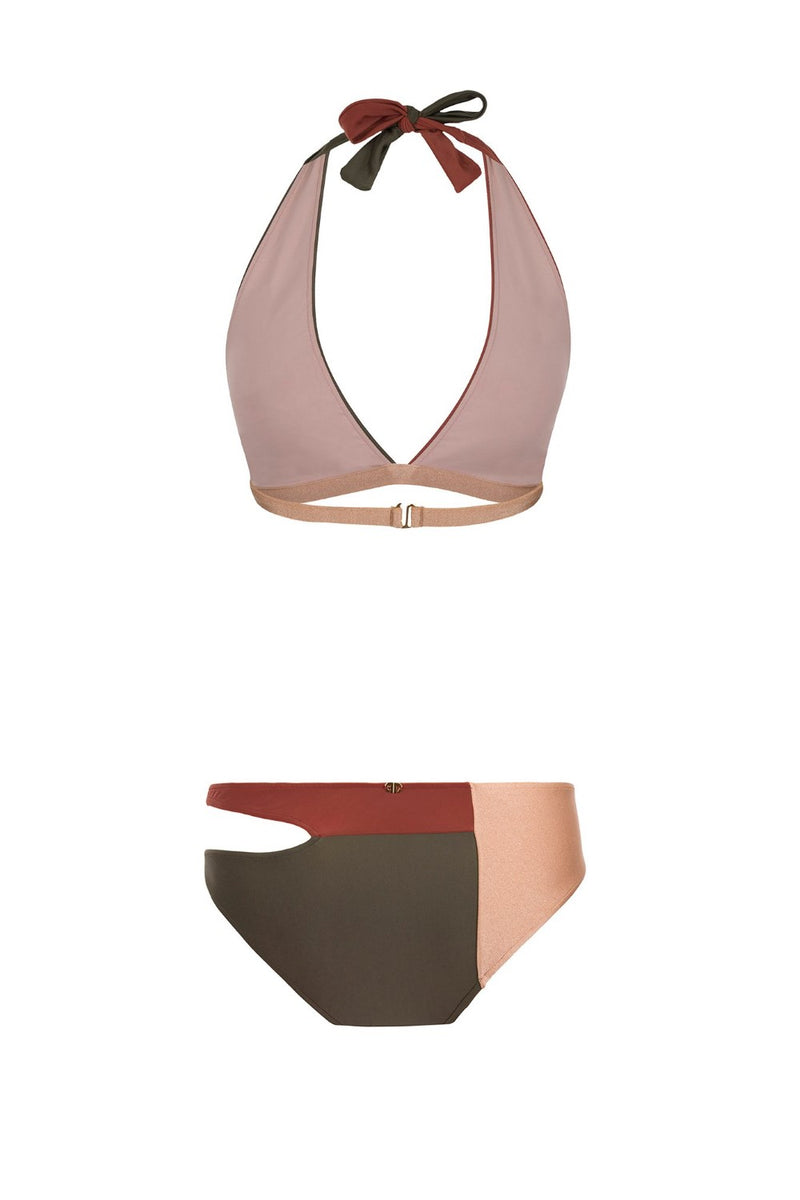 Modern long triangle side cut-out bikini is inspired by Brazilian girls