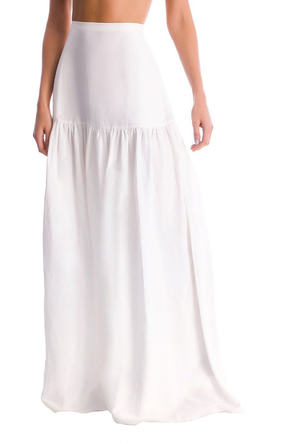 This maxi skirt is made from linen is the perfect choice for an effortless chic look.Wear it with matching shirt and flat sandals on vacation
