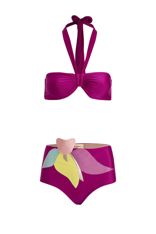 Colorful Flowers Hot Pants Bikini