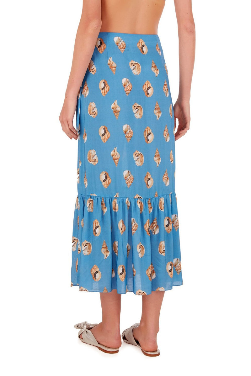 Perfect for summer getaways, this long pareo skirt is cut from lightweight viscose in really vibrant hues.