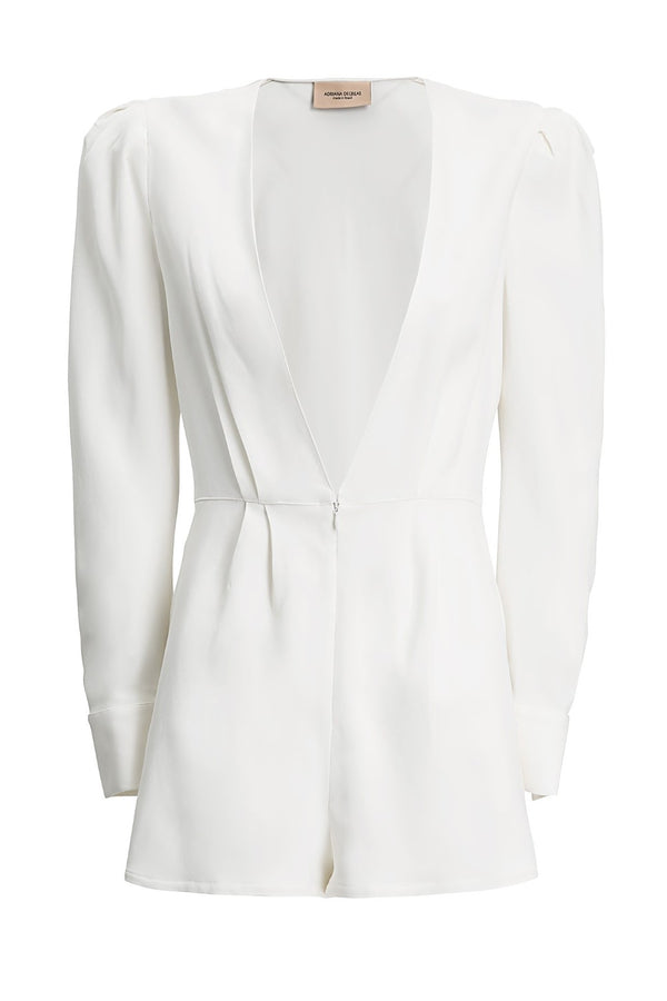 Coquillage Playsuit With Voluminous Sleeves