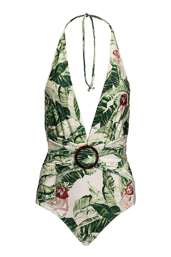 With its tropical prints and vibrant hues, this swimsuit is the perfect choice for your next exotic vacation destination