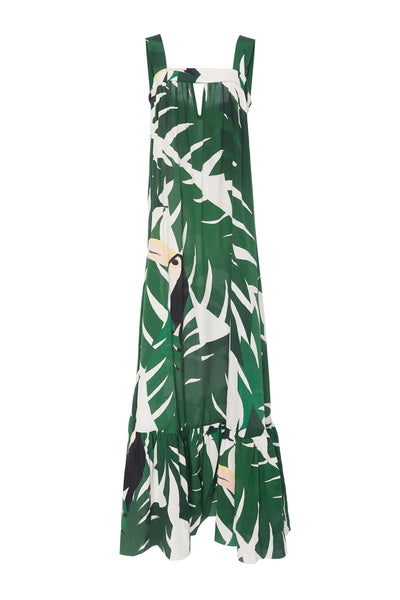 Geometric Foliage Maxi Dress