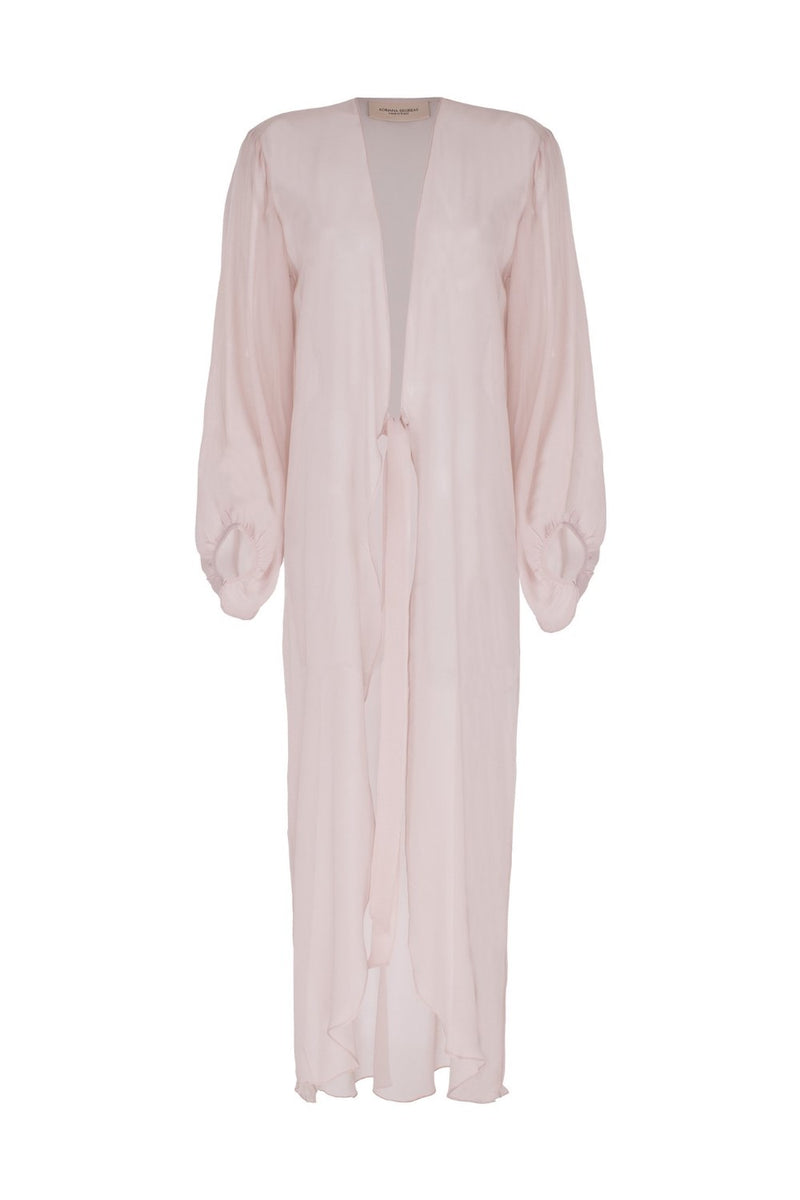Fig Solid Long Robe