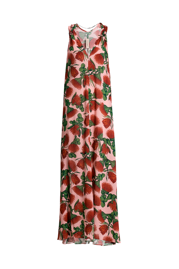 This maxi dress has a loose silhouette, crafted from viscose and shaped with a V-neckline