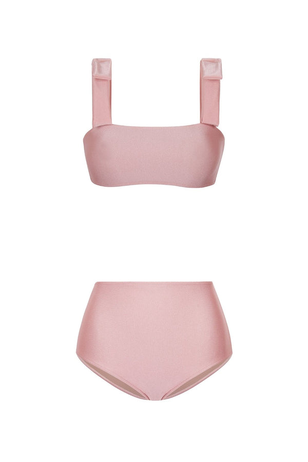 This classic and romantic style bikini has a flattering square neckline while the high-rise briefs are perfect for those who prefer fuller coverage