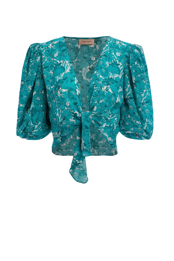 Flower Bloom Cropped Shirt