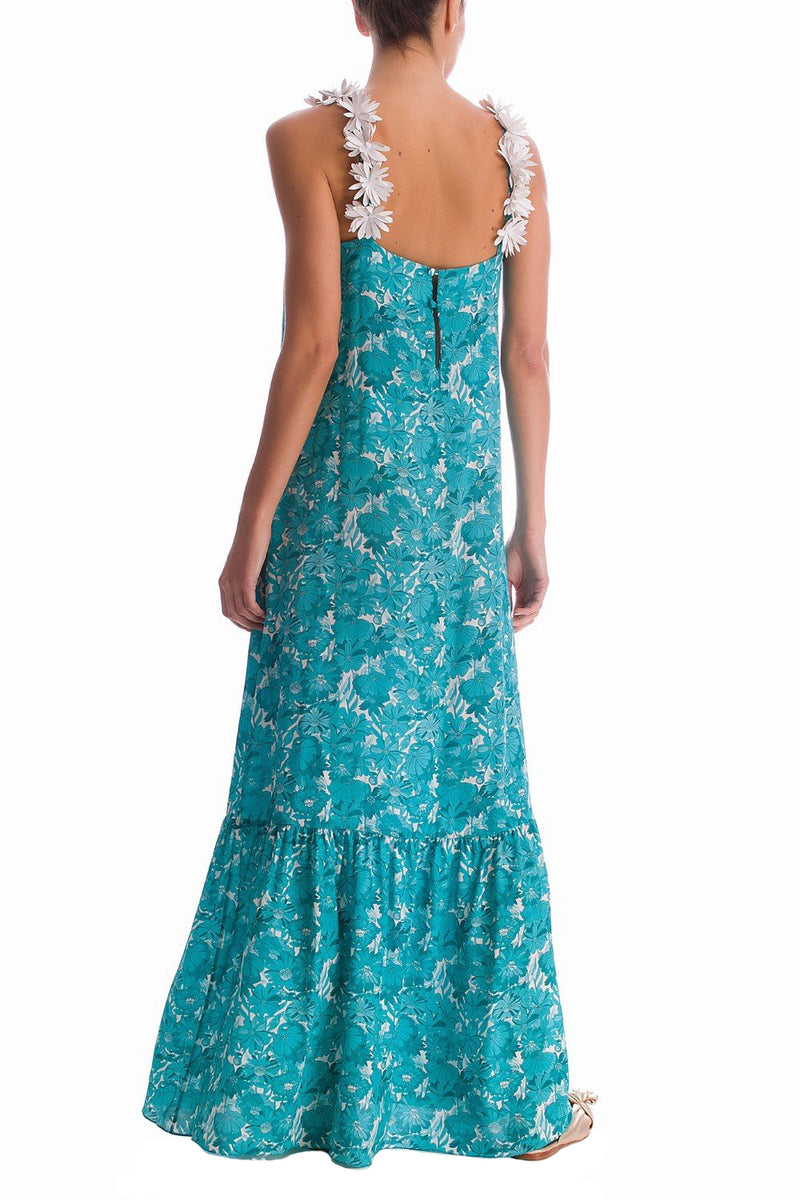 This long dress will be your go-to on sunny days, whether you're headed to garden parties or beachfront restaurants