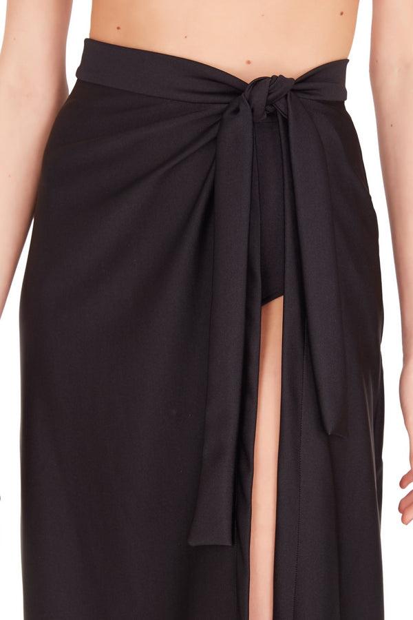 Classic and practical, this wraparound skirt is a must-have cover up