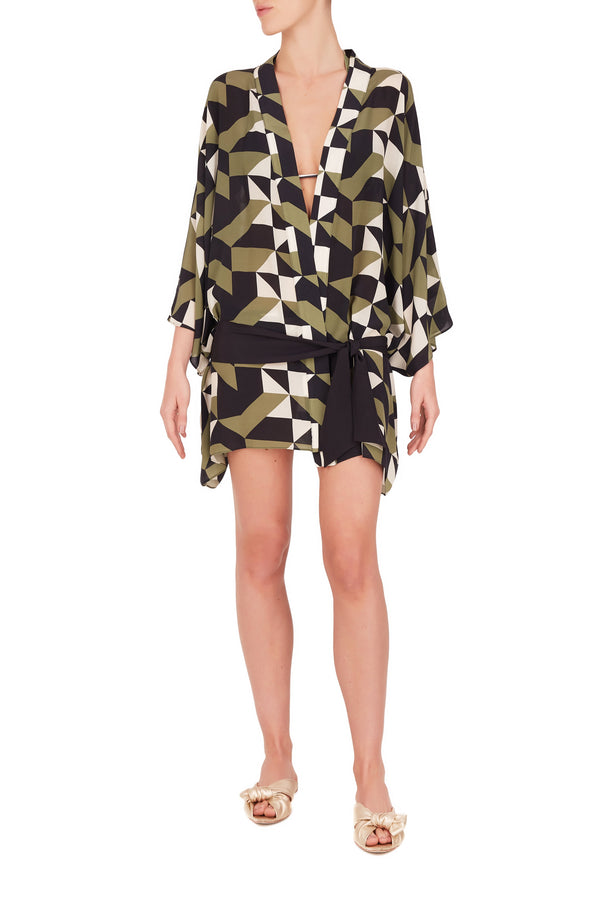 Geometrique Short Robe
